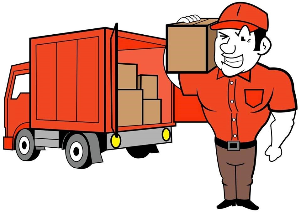 Kangaroo Couriers Cartoon Delivery Truck